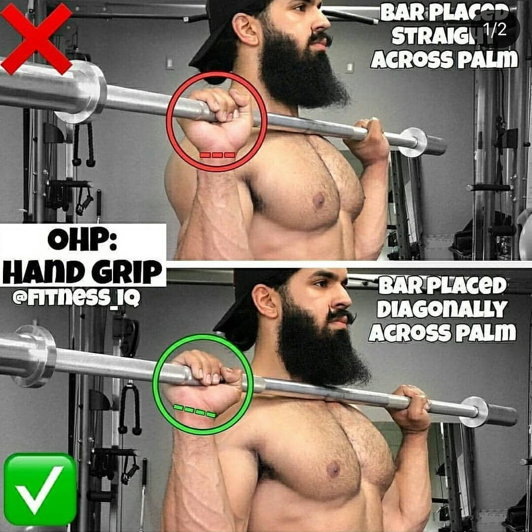 good & bad  grip on barbell