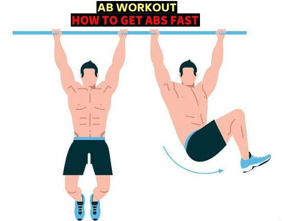 Six-Pack Abs Workout- Twisting Legs on Crossbar