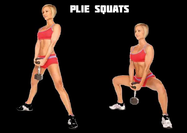 Plie squats - Excellent for a bum workout