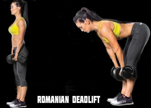 romanian deadlift with dumbbell for bum workout