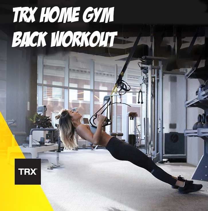 Back workout with Trx Loops