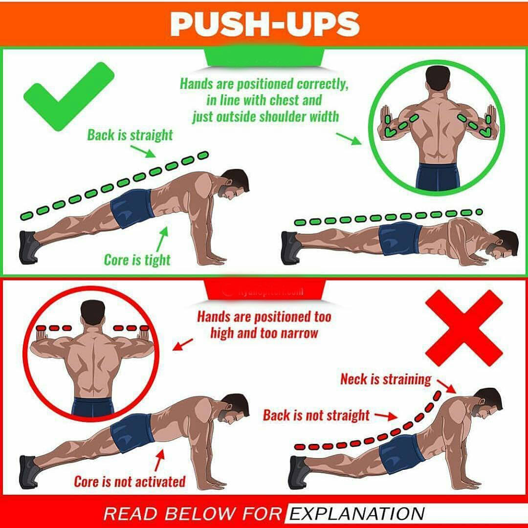How to Push ups exercises