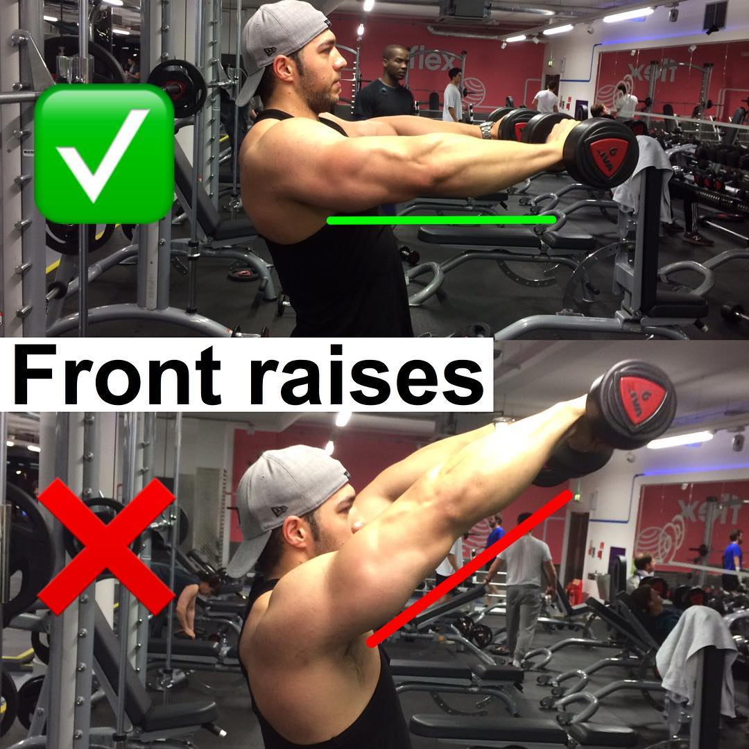 How to Dumbbell front raises