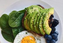 eggs with cheese and avocado