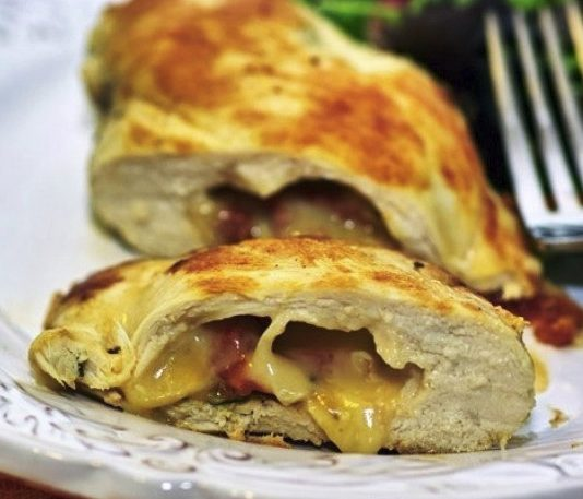 Chicken breast stuffed with cheese
