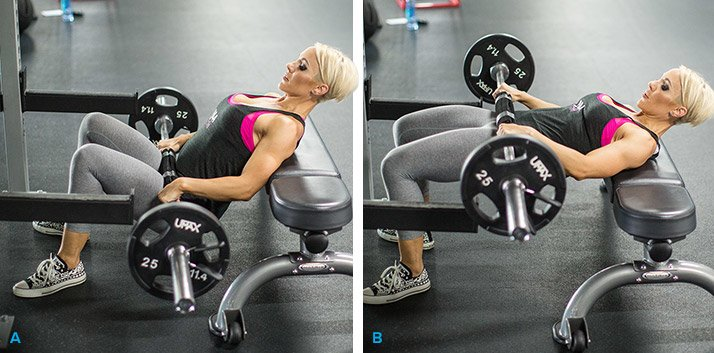 Barbell Hip-Thrust exercises