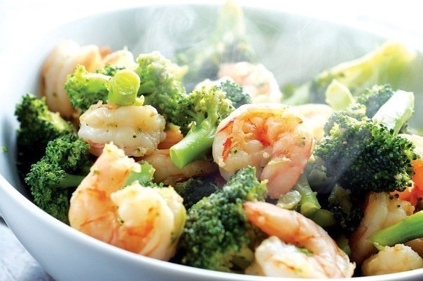 Shrimp with vegetables