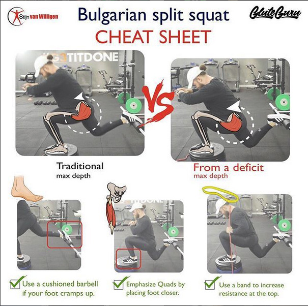 Technique of performance Bulgarian Split Squat