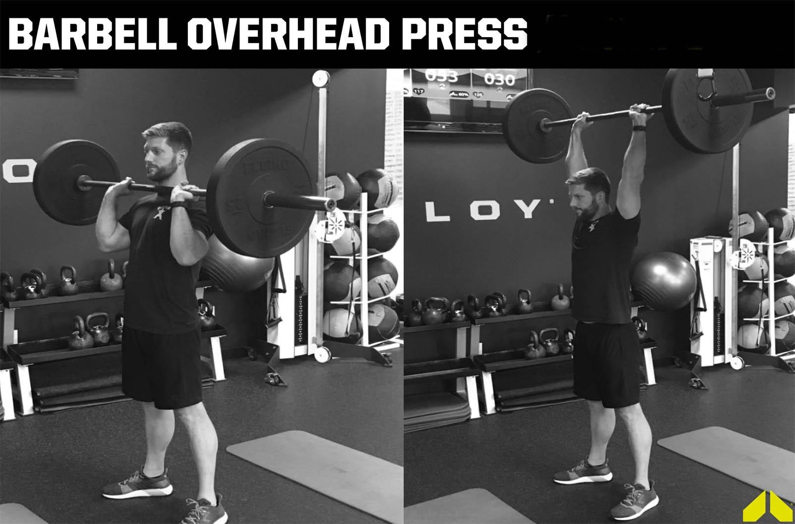How To Barbell Overhead Press Weighteasyloss Com