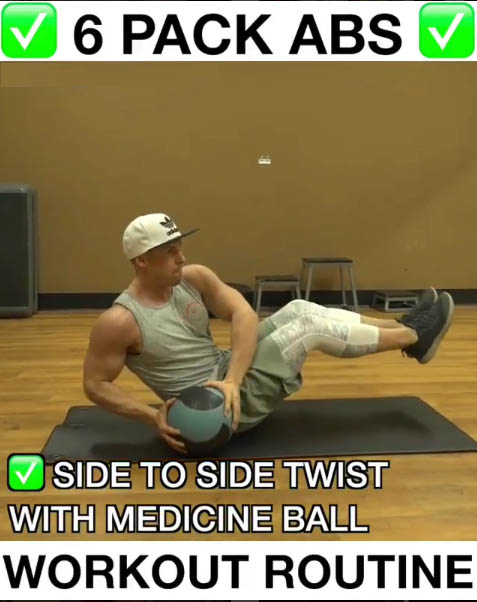 Side to Side Twists with Medicine Ball