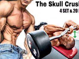 The skull crusher proper form