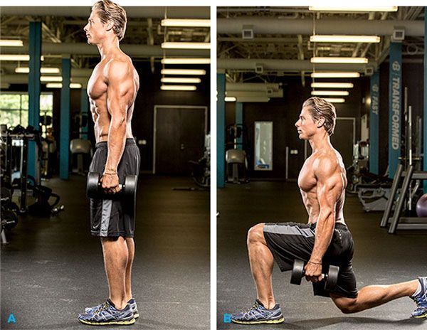 Stationary Lunges: