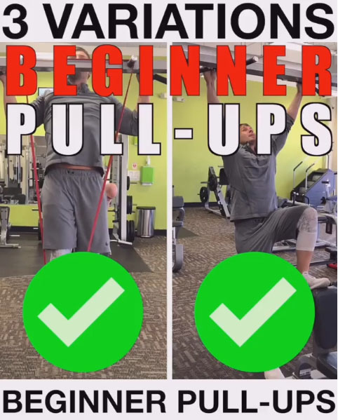 3 Beginner Pull-Up Variations
