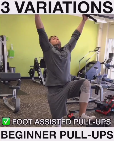 Foot-Assisted Pull-Ups