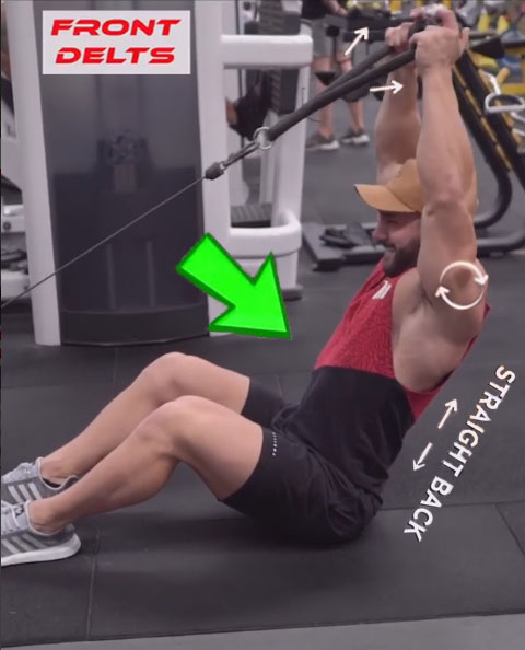 How to SEATED CABLE FRONT RAISE