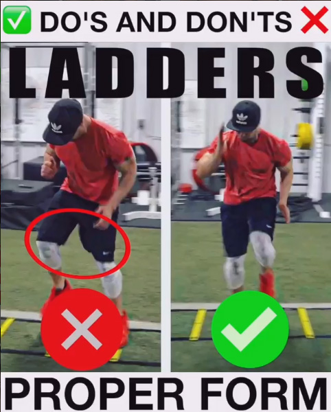 Ladders Lateral High Knees