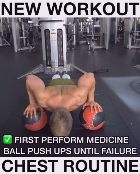Technique of Implementation Ball Push-Ups