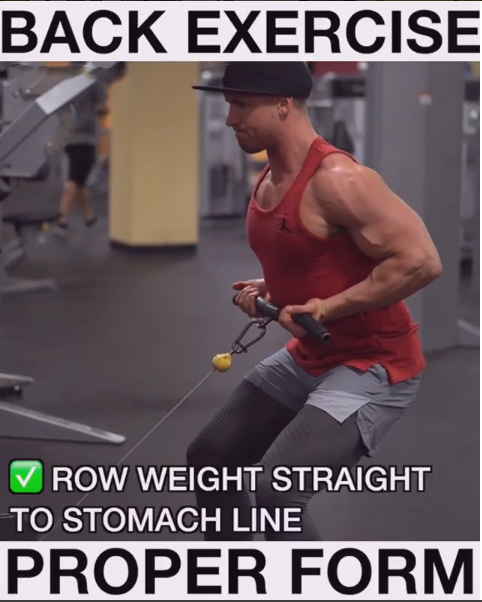 Technique of executionReverse Grip Cable Machine Low Angle Rows