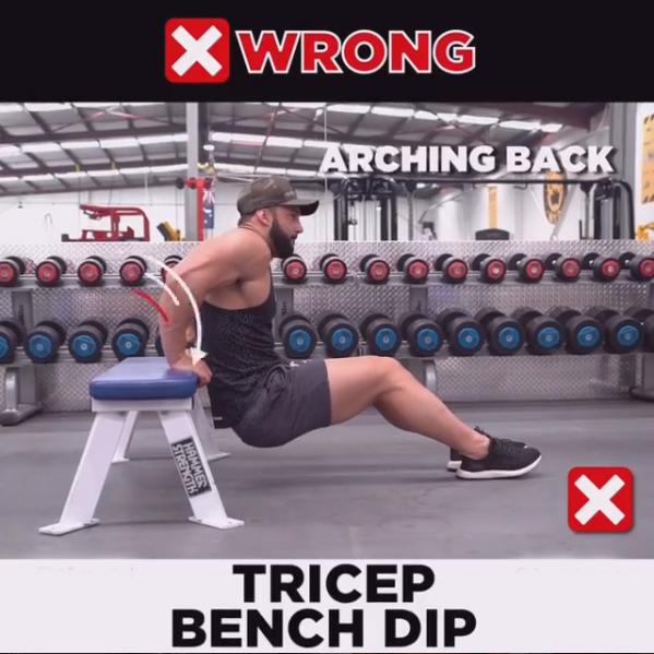 TRICEP DIPS Wrong