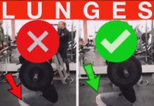 Stationary Lunges Proper Form with Barbell