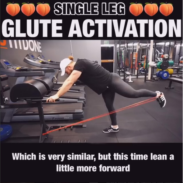 How to Single Leg Glute Activation