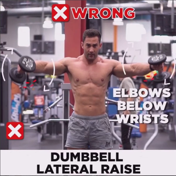 HOW TO EXECUTE Dumbbell Lateral Raise ❌WRONG
