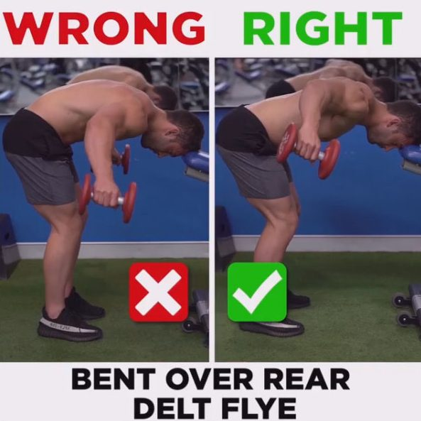 HOW TO BENT OVER REAR DELT FLYEWRONG VS RIGHT