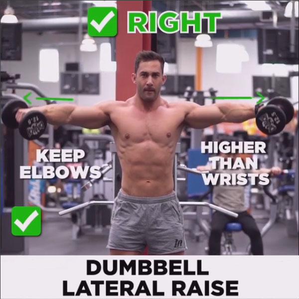HOW TO EXECUTEDumbbell Lateral Raise ❎RIGHT