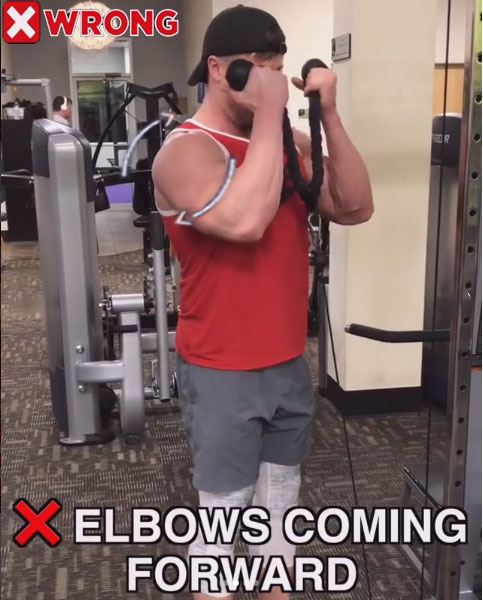 Wrong: Cable Rope Curls