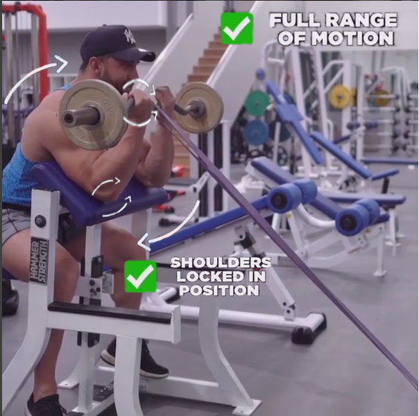 HOW TO PREACHER CURL WITH BANDS