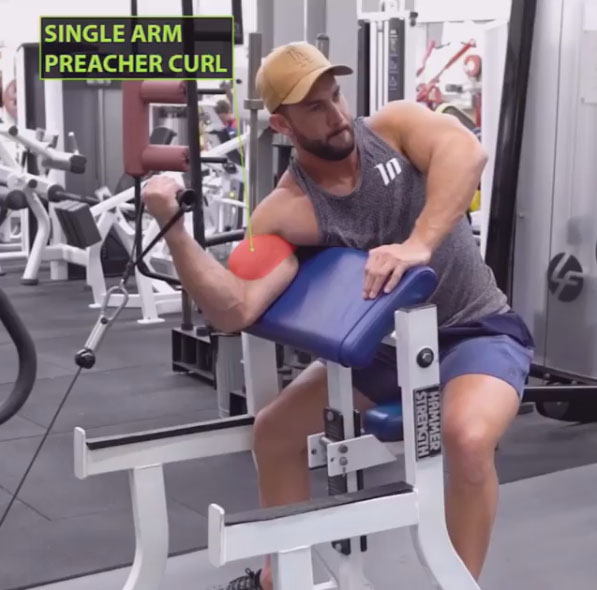 HOW TO CABLE PREACHER CURL