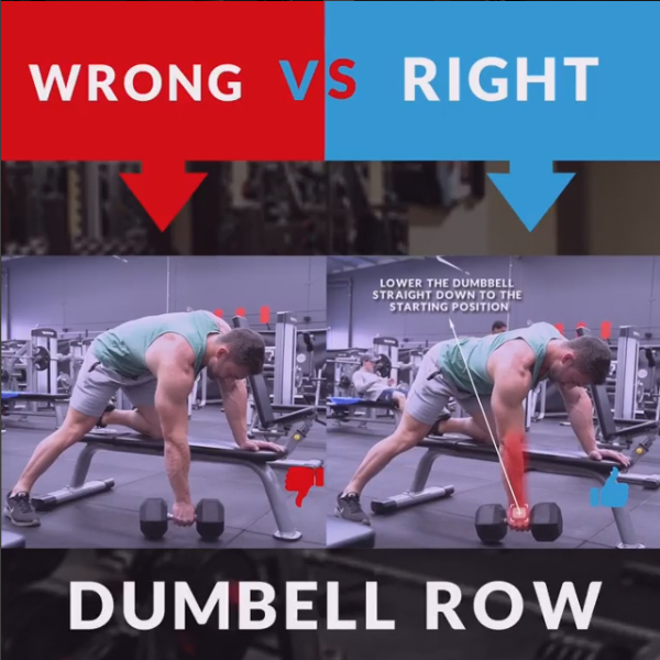 HOW TO DUMBBELL ROW WRONG&RIGHT