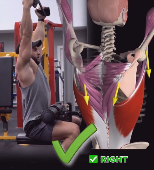 HOW TO LAT PULLDOWN | ❌WRONG & RIGHT❎