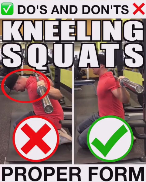 Kneeling Squats Proper Form - description and technique