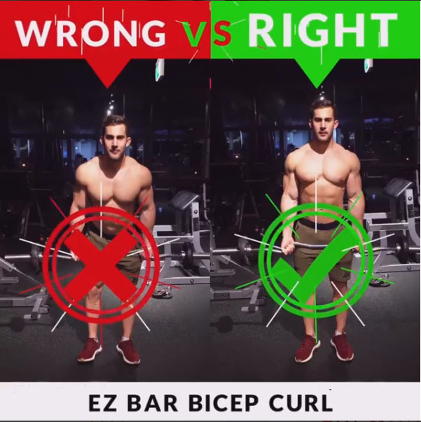 🚨EZ BAR CURLS 👎WRONG VS 👍RIGHT
