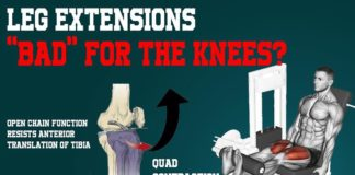 """leg extensions """"bad"""" for your knees?"""