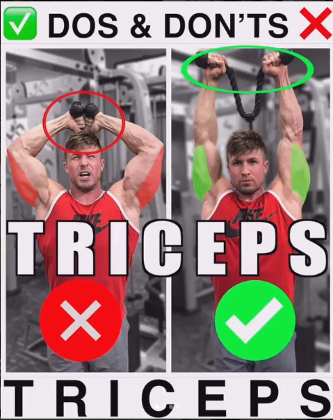 Overhead Rope Tricep Extensions