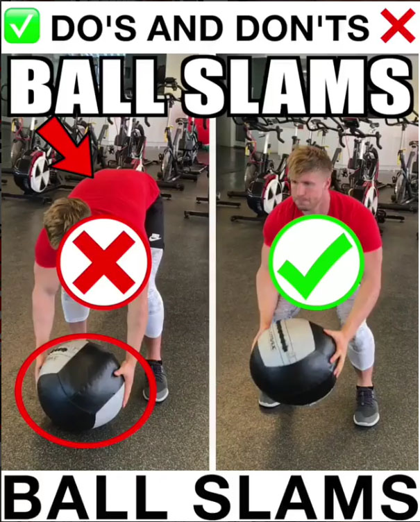 How to Ball Slams Proper Form