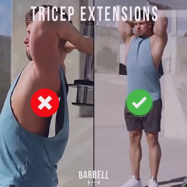 How to Triceps Overhead Extension