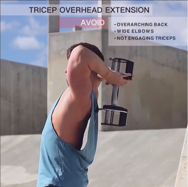 Avoid: Triceps Overhead Extension