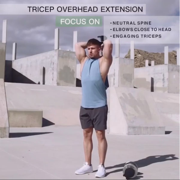Focus on: Triceps Overhead Extension