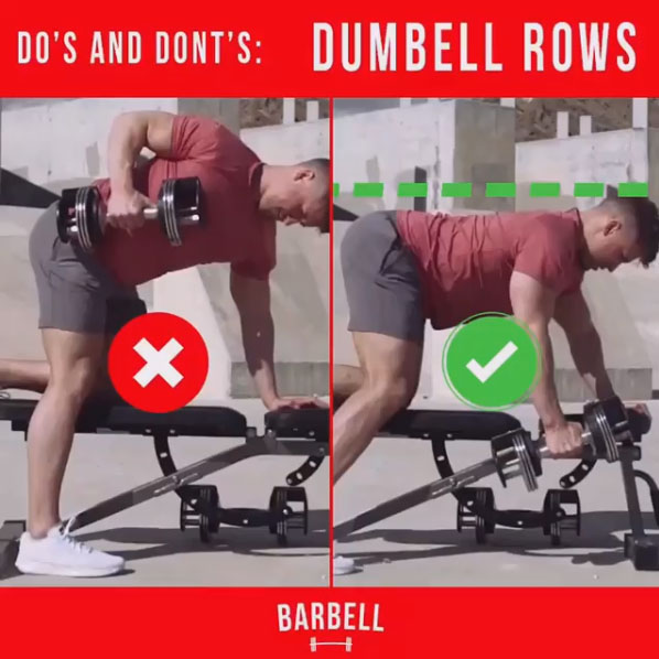 How to Dumbbell Rows