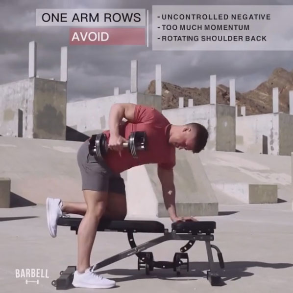 Avoid: Dumbbell Rows