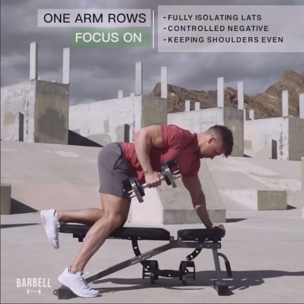 Focus on: Dumbbell Rows
