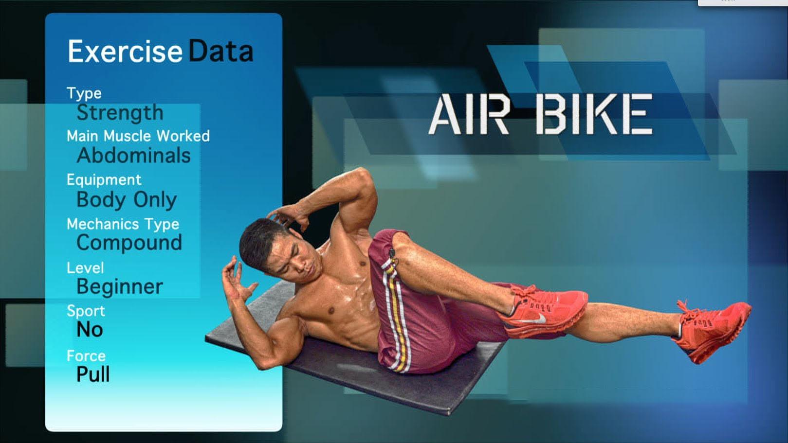 Air Bike crunches