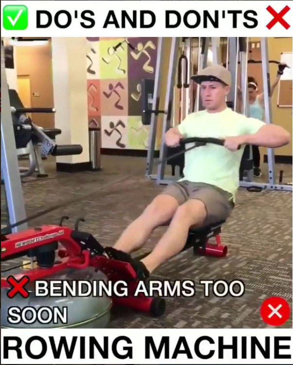 ❌Wrong & Rowing Machine Proper Form