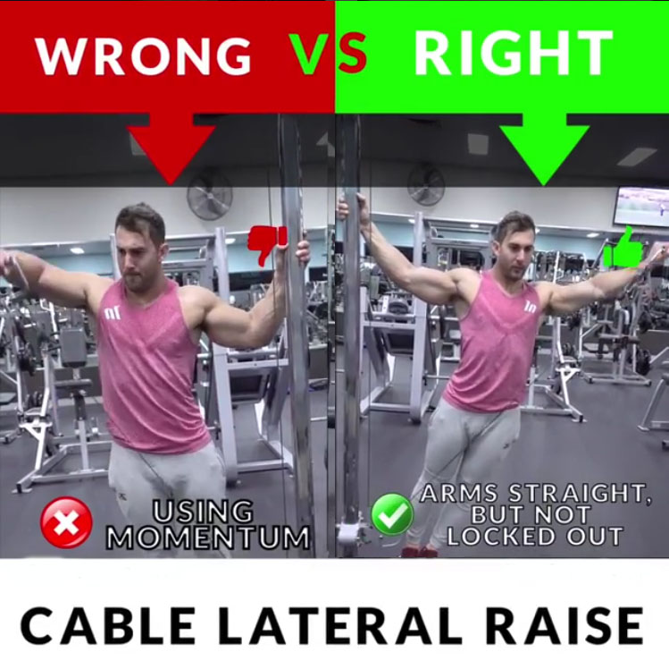 🚨CABLE LATERAL RAISE 👎WRONG VS 👍RIGHT