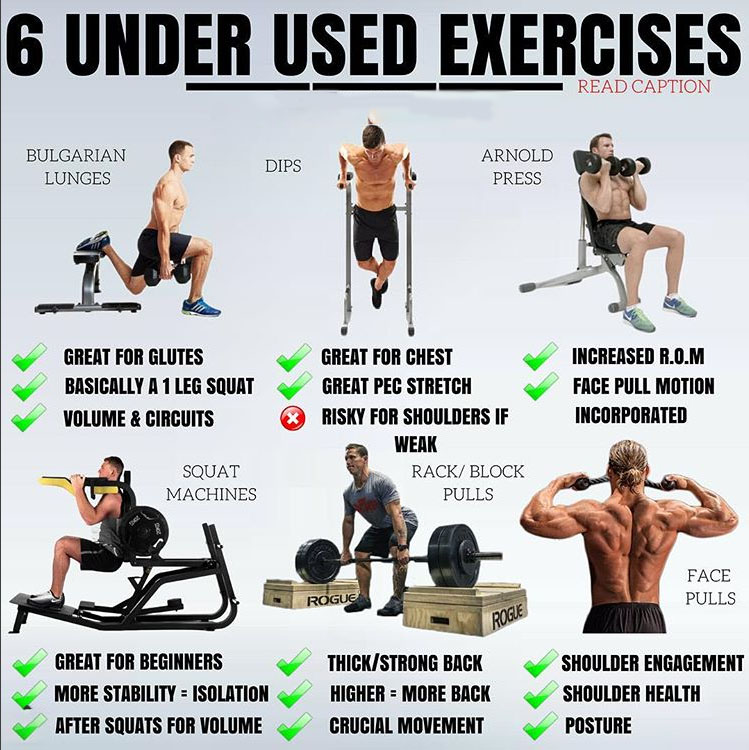 🔥6 UNDER USED EXERCISES🔥