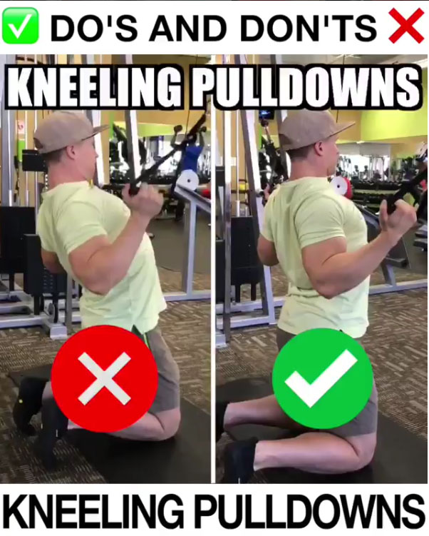 Kneeling Pulldowns Proper Form