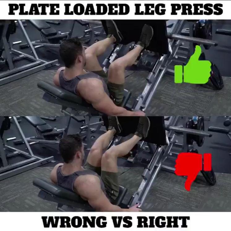 🚨PLATE LOADED LEG PRESS 👎WRONG VS 👍RIGHT .